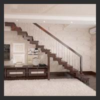 Деревянные лестницы для двухуровневых квартир